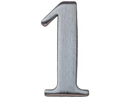 Yale Huisnummer 1 inox 50mm