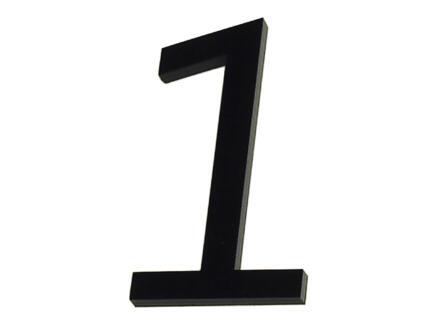 Huisnummer 1 polyester 6cm