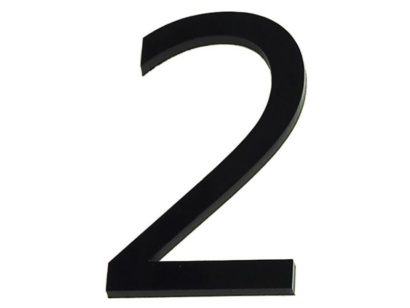 Huisnummer 2 polyester 9cm
