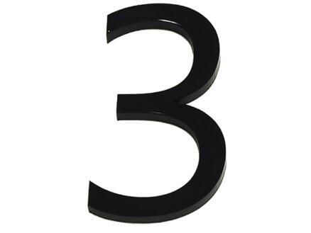 Huisnummer 3 polyester 6cm
