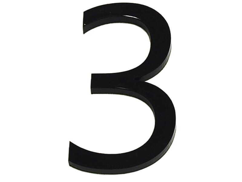 Huisnummer 3 polyester 9cm