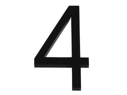 Huisnummer 4 polyester 6cm