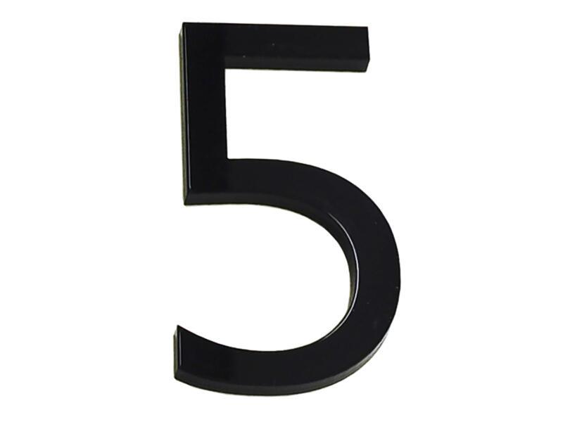 Huisnummer 5 polyester 6cm