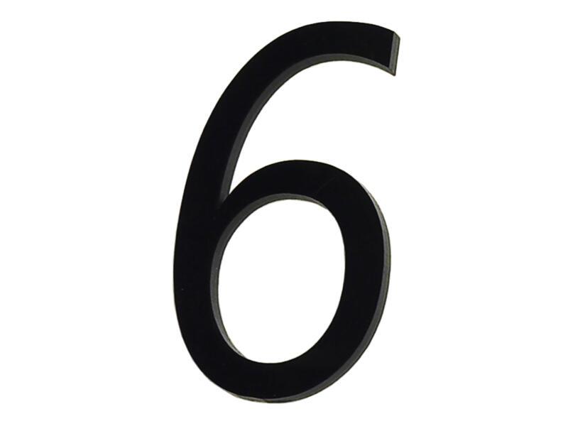 Huisnummer 6 polyester 6cm