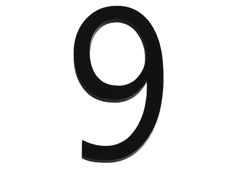 Huisnummer 9 polyester 6cm