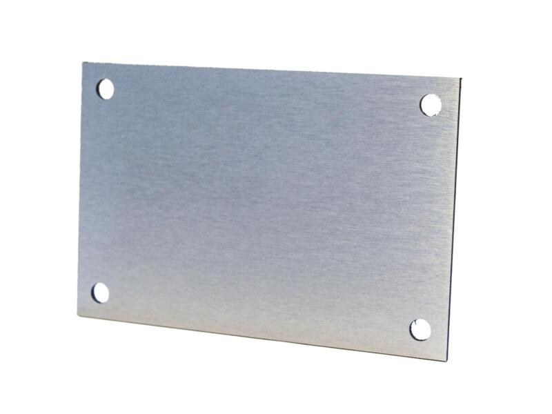 Huisnummerbord met gaatjes 10x15 cm