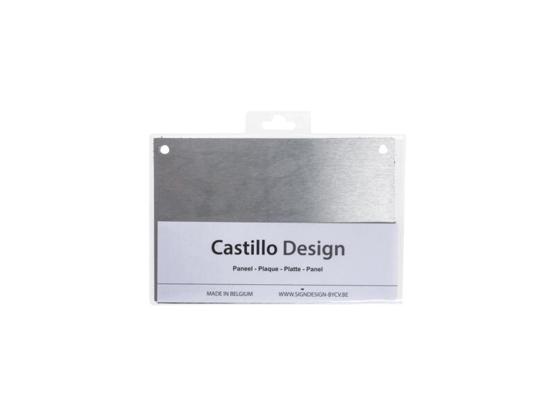 Huisnummerbord met gaatjes 15x22 cm