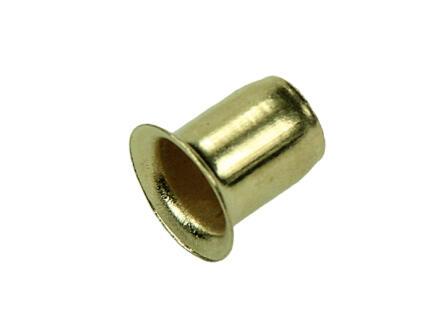 Huls voor plankdrager 7,5mm goud 12 stuks