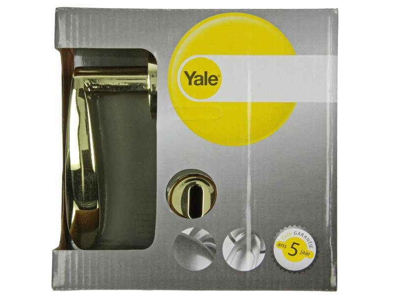 Yale Ian BB deurklinkset op rozet 52mm gepolijst messing