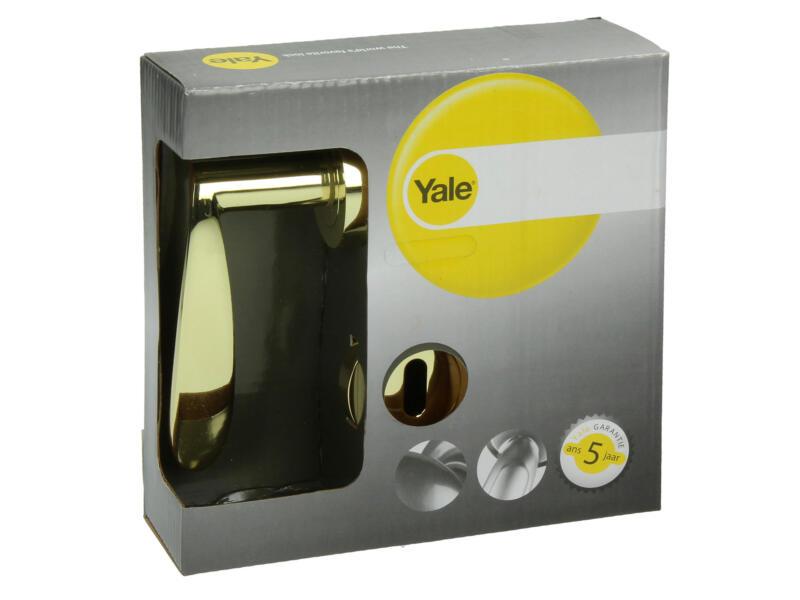 Yale Ian BB poignée de porte avec rosaces 52mm set complet laiton poli