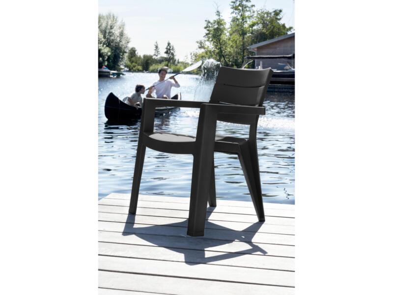 Allibert Ibiza chaise de jardin graphite