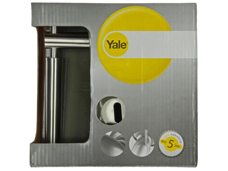 Yale Ilias BB deurklinkset op rozet 54mm inox