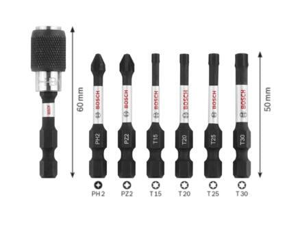 Bosch Impact Control schroefbitset PH/PZ/T 50mm 7-delig
