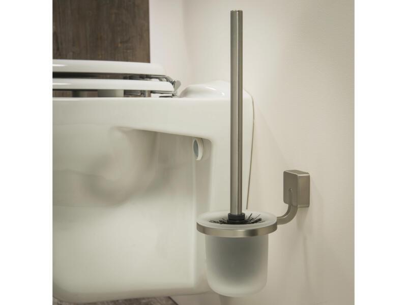 Tiger Impuls WC-borstel met houder geborsteld inox