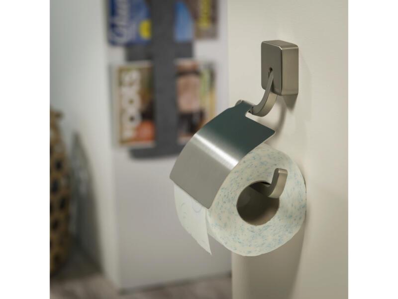 Tiger Impuls porte-papier toilette avec couvercle inox brossé