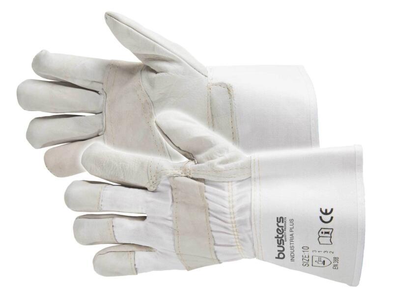 Busters Industria Plus werkhandschoenen XL leer wit