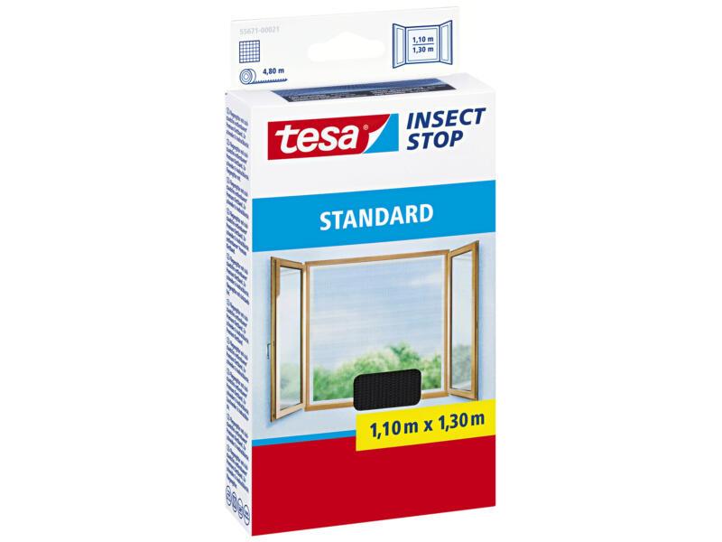 Tesa Insect Stop Standard klittenband ramen 1,1x1,3 m zwart