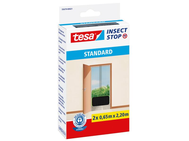 Tesa Insect Stop Standard toile moustiquaire de porte autoagrippante 65x220 cm anthracite