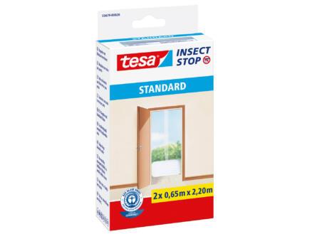 Tesa Insect Stop Standard toile moustiquaire de porte autoagrippante 65x220 cm blanc