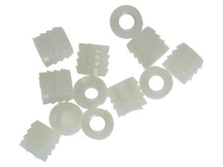 Inslagmoer 10x13 mm kunststof 12 stuks