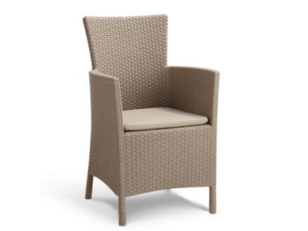 Allibert Iowa fauteuil de jardin cappuccino