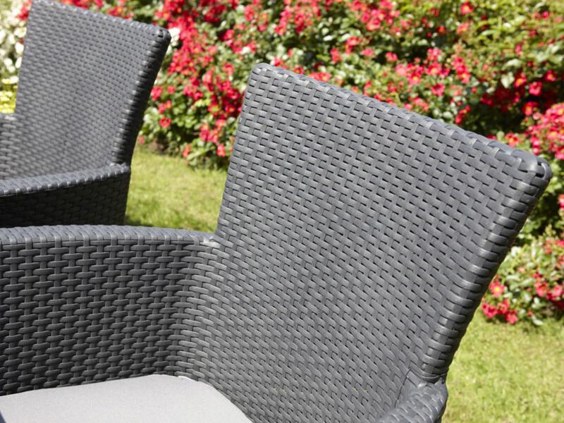 Allibert Iowa fauteuil de jardin graphite