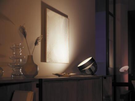 Philips Hue Iris lampe de table LED 8,1W dimmable RGB noir