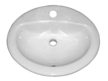 Isifix Isicentro lave-mains encastrable 51cm porcelaine