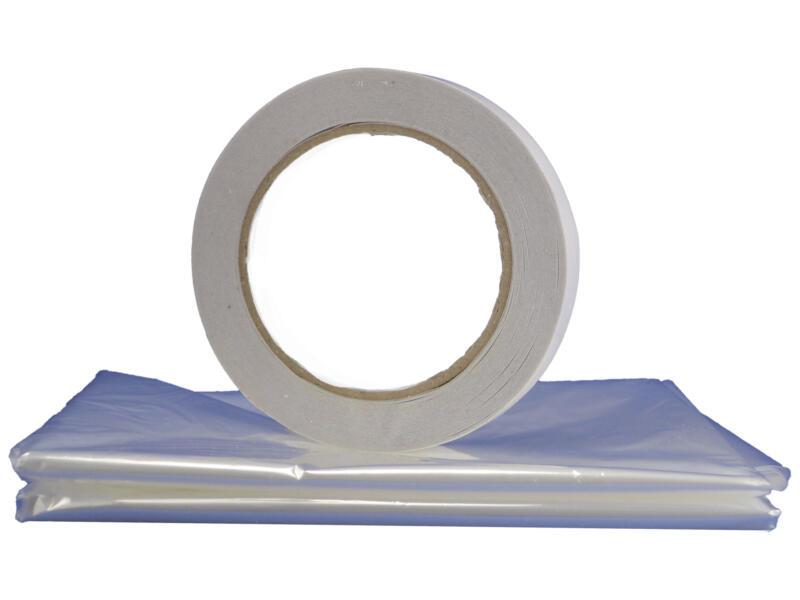 Confortex Isolatiefolie venster 5x1,5 m + tape 25m