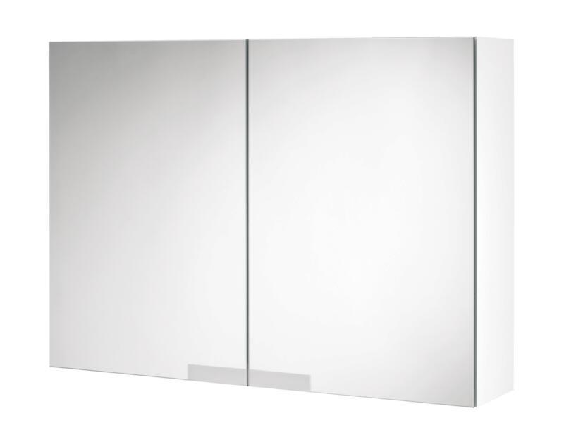 Tiger Items armoire de toilette 70cm 2 portes miroir blanc