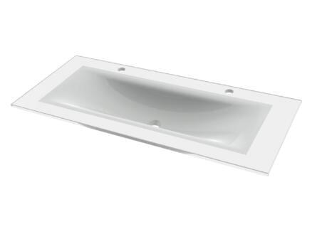 Tiger Items lavabo encastrable 105cm blanc brillant