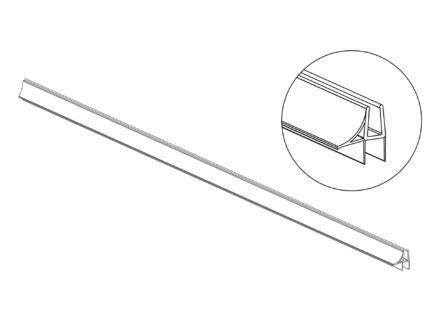 Tiger Joint universel pour verre de sécurité 110cm transparent