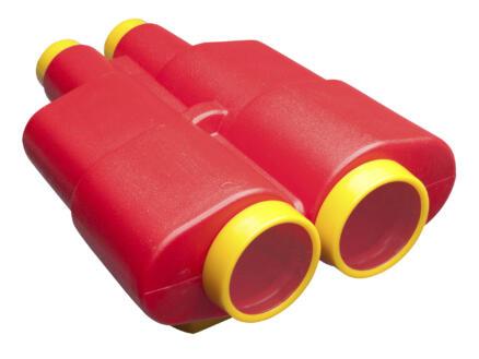 Jumelles grands rouge et jaune