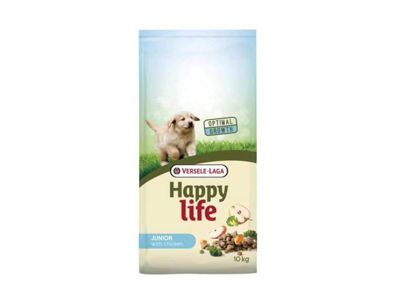 Happy Life Junior croquettes chien poulet 10kg