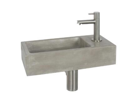 Differnz Juti lave-mains 38,5x18,5x9 cm béton