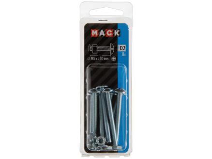 Mack Kachelbout met moer M5 50mm verzinkt 8 stuks