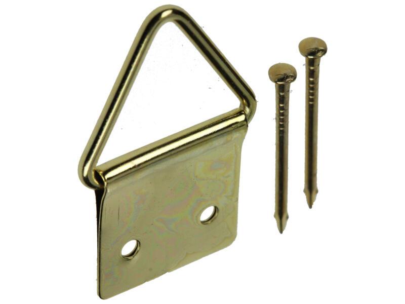 Mack Kaderhanger staal 16x28 mm messing 5 stuks