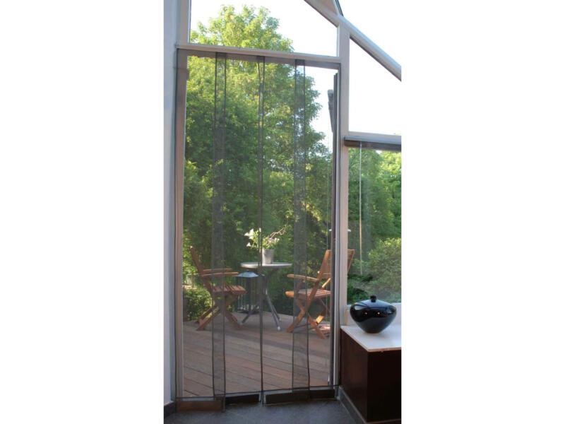 Confortex Kansas moustiquaire de porte à lamelles 100x220 cm gris