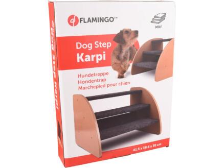 Flamingo Karpi marchepied pour chien 41,5x38,5x30 cm gris