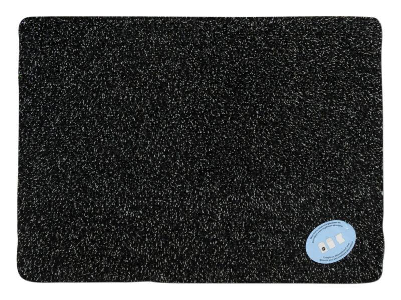 Katoenmat 50x75 cm antraciet