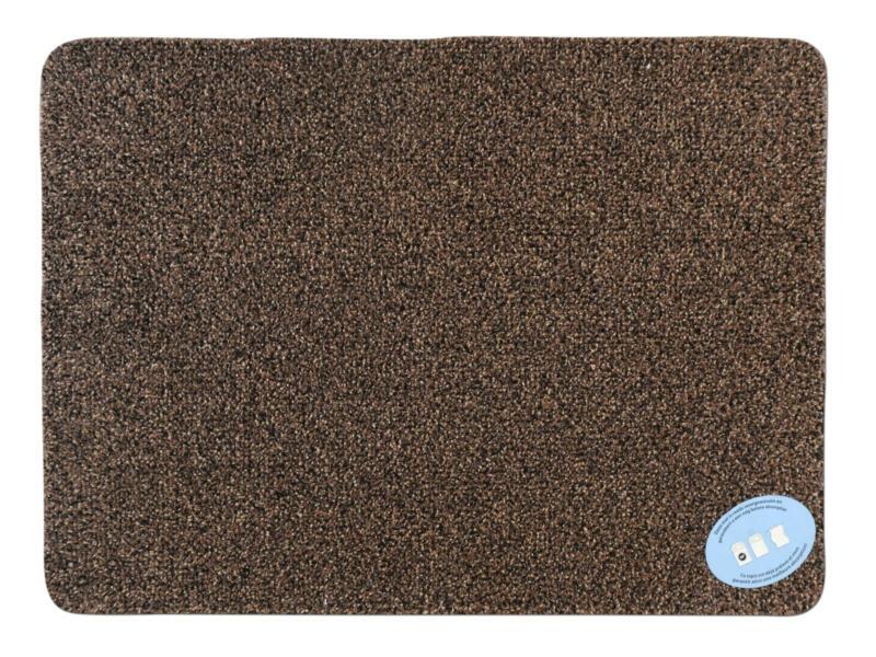 Katoenmat 50x75 cm bruin