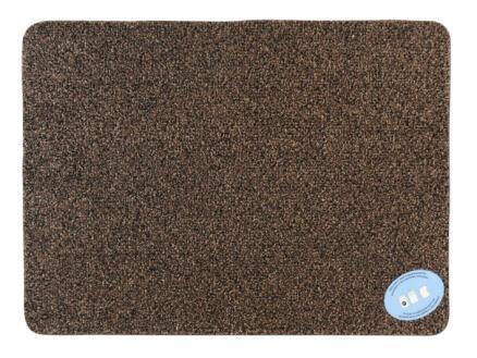 Katoenmat 70x125 cm bruin