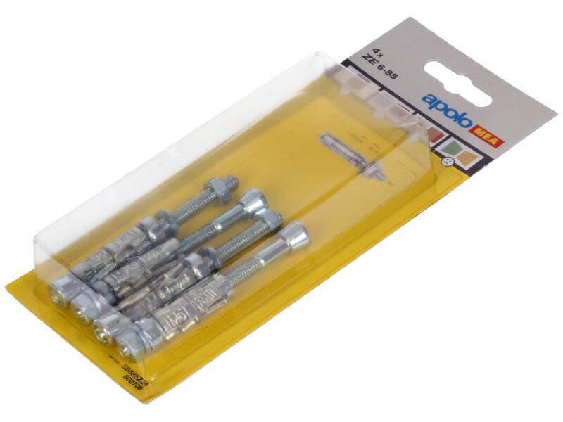 Celo Keilbouten ZE6-85 met draadstang 6x85 mm en moer 4 stuks