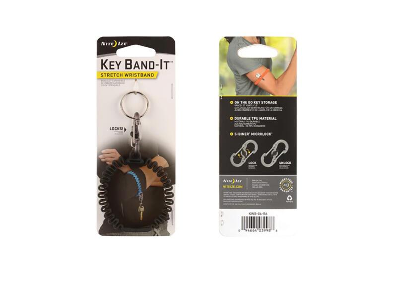 Nite Ize Key Band-It bracelet porteclé noir