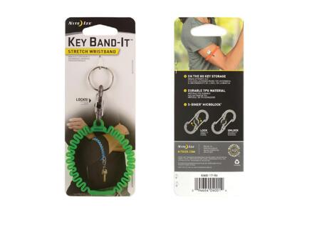 Nite Ize Key Band-It polsband sleutel groen