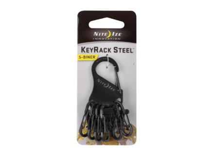 Nite Ize KeyRack S-Biner S-karabijnhaak 38,1x93,98 mm inox zwart 7 stuks
