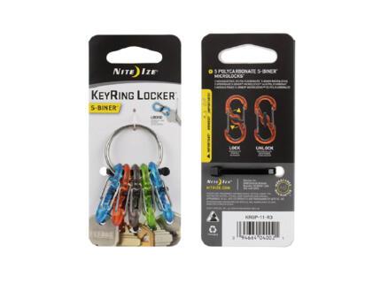 Nite Ize KeyRing Locker S-Biner S-karabijnhaak 42x62x16 mm kunststof 5 stuks