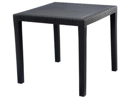 Progarden King table de jardin 80x80 cm anthracite