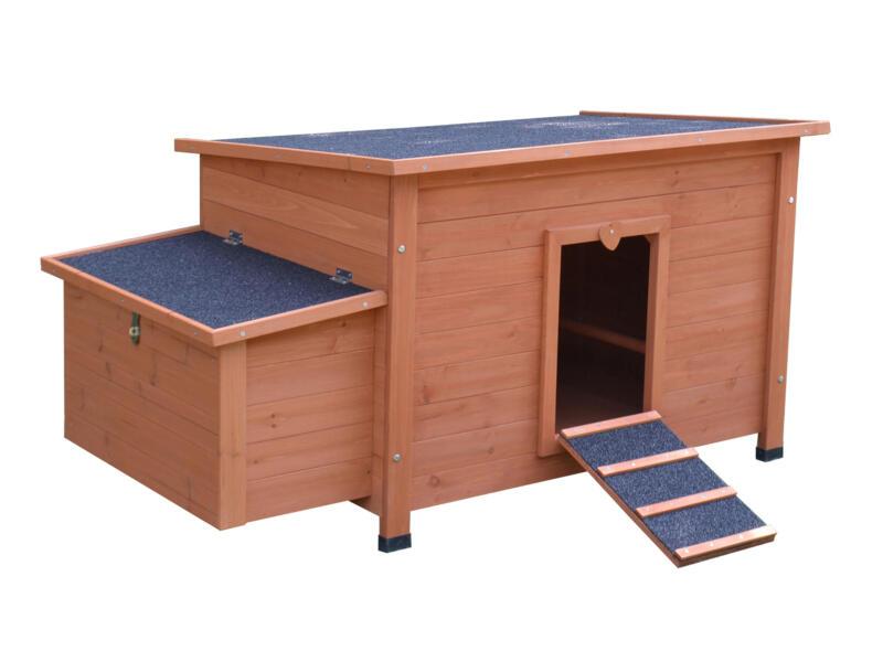 Kippenhok 136x74x70 cm hout