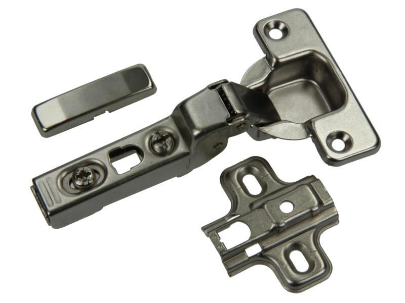 Klikscharnier met kruisplaat 11cm 8mm